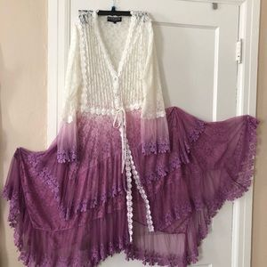 Victorian lace duster evening jacket
